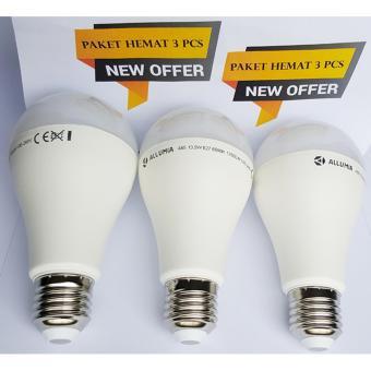 LED Lampu Bulb Allumia 14W- Paket hemat 3pcs - Putih