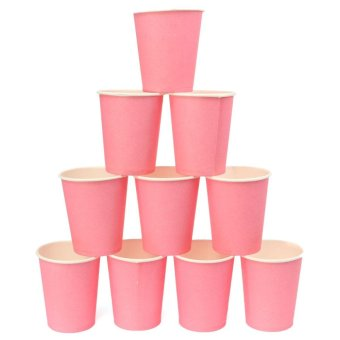 60pcs Plain Solid Colourful Paper Tableware Cups Party Wedding DIY Events Drinking - intl