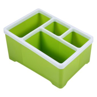 Multi-functional Desktop Samll Items Storage Box Stationery Organizer (Green) - intl