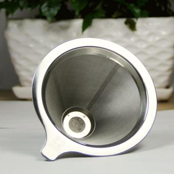 Double layer Stainless Steel Coffee Filter Coffee Pot Funnel Tea Filter(S) - intl