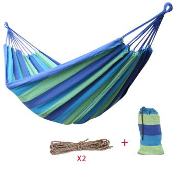 Portable Outdoor Travel Double Person Hammock Blue