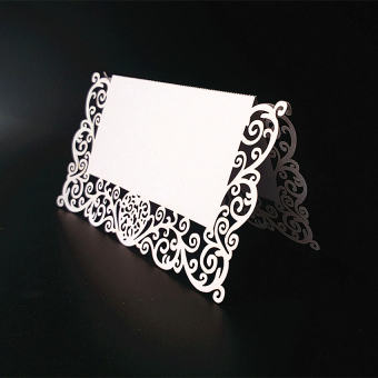 RIS 25pcs White Table Name Number Place Card Wedding Party Invitation Favor