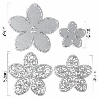 High Quality Store New 4Pcs Flower Metal Cutting Dies Stencils DIY Scrapbook Memory Box Paper Card Scrapbooking Decorative Craft