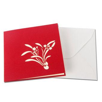 BolehDeals 3D Pop Up Invitation Greeting Card Valentine Anniversary Birthday Daffodil
