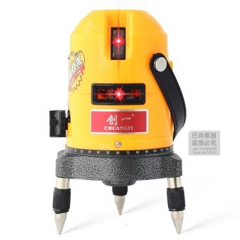 Harga 635nm 4V1H 5 line 6 point laser line cross line laser rotary laser level selfing