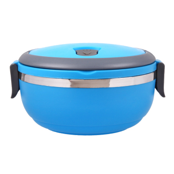 Stainless Steel Thermal Insulated Lunch Box Bento Food Picnic (Blue)