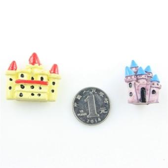 2016 New Castle Zakka Ornaments Micro Landscape Figurine Miniatureresin Bonsai Decoration(Red, L)
