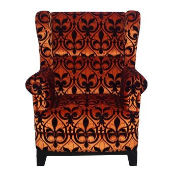 Ken Living Wing Chair - Orange - Khusus Jabodetabek
