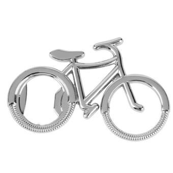 1PC Portable Attractive Bicycle Shape Bottle Beer Opener Key Chain Silver - intl