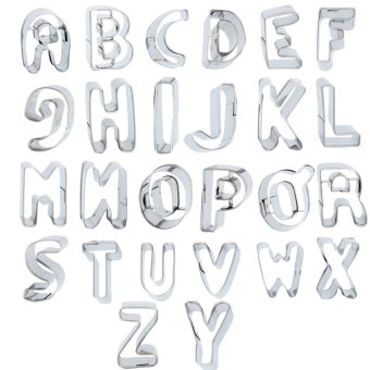 ZigZagZong 26pcs Alphabet Letter Number Cake Decor Biscuit Cookie Cutters Birthday Mold - intl