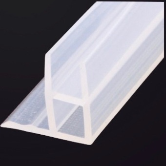 Door Window Weather Strip Balcony Shower Screen Angle Seals for 10mm Thick Glass 3 Meters Transparent - intl