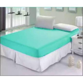 jaxine sprei waterproof anti air tinggi 35+set sarung bg-hijau tosca