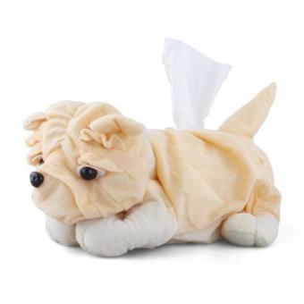 Cute Dog Tissue Box Cover