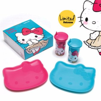 Tupperware Hello Kitty Plate and Tumper (2set)