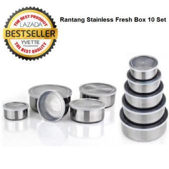 Harga Fresh Box Wadah Makanan Kedap Udara Stainless Steel 10 Pcs