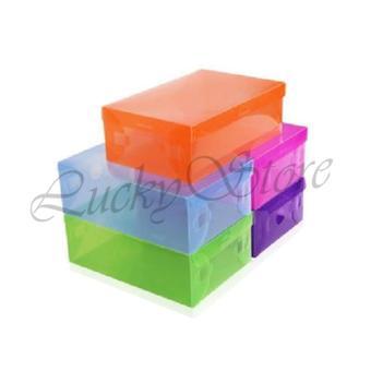 Harga Lucky Tempat Sepatu Warna Warni - Kotak Sepatu Transparan - Shoe Box Transparant - 1