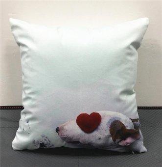 One Size Cute Bull Terrier Pet Dog Cool Pillowcase Waist Pillow Cover - intl