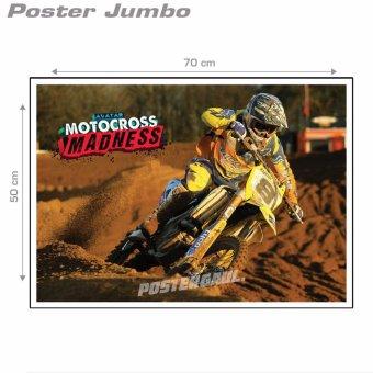 Harga Poster Jumbo: Motocross #MTC14 - Jumbo size 50 x 70 cm
