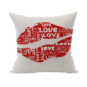 Nunubee Cotton Pillowcase Cushion Wedding Gift Home Pillow Cases Soft Bed Pillow Cover Red Lip