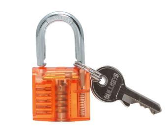 akerfush Visible Cutaway Padlock Training Skill Lock (Yellow)