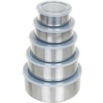 Harga Paling Laku Fresh Box 5 pcs + Tutup Kedap Udara – Tempat Makanan Stainless Steel