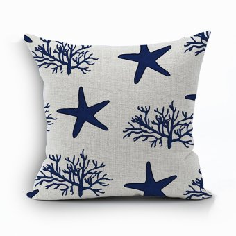 Yazilind Star&Tree pattern decorative pillowcase room sofa home 45*45CM/17.55*17.55 inch