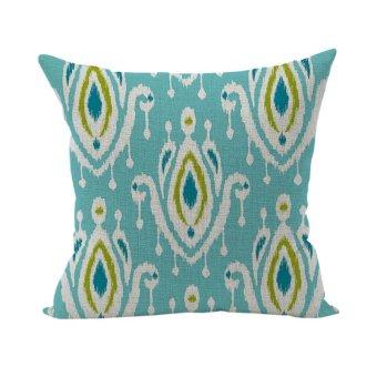 Blue Linen Pillow Case Cushion Cover Home D??cor Cotton Cushion Throw Pillow