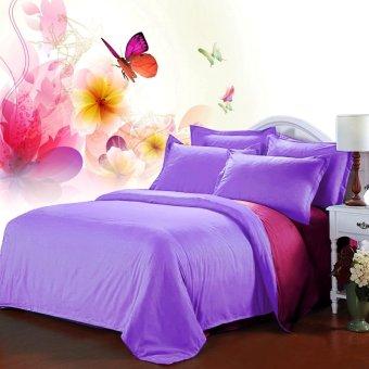 Jaxine Bedcover Katun Prada Polos Fanta Lilac