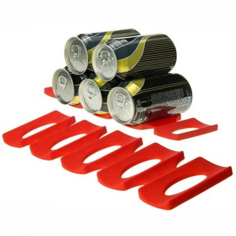 Refrigerator Storage Box of Beer Wine Slicone Mat Tool Tidy Stacking Devices of Red Kitchen - Red - intl