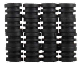 kobwa Anticollision 5/8 Inch Foosball Rods Rubber Bumpers for Foosball Table (Black)