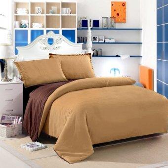 Jaxine Bedcover Katun Prada Polos Choco Cokelat