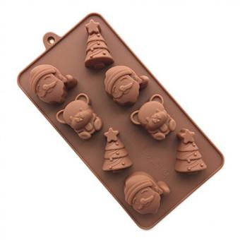 HL Silicone Santa Claus Bear Candy Chocolate And Soap Sunflower Molds - intl