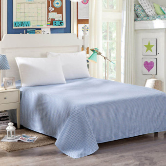 100% Cotton Super Soft Reactive Print Bed sheet - Size 230 * 250cm - Wrinkle, Fade, Stain resistant (Blue)