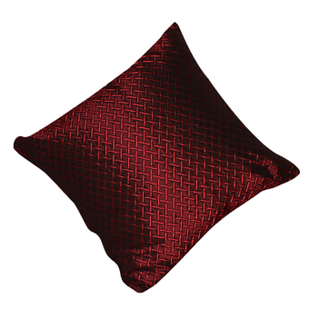 Grid Throw Pillow Cover (Red)