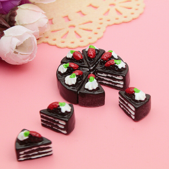 10pcs lovely Resin black cake flatback Scrapbooking For phone /craft Coffee - intl