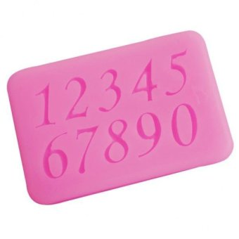 BolehDeals 3D Numbers Pattern Silicone Fondant Mould Cake Ice Paste Mold Tool - intl
