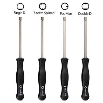 Y&T 4 Pieces Set 2 Cycle Carburetor Adjustment Tool Screwdriver Includes Splined Double D Single D Pac Man for 2 Cycle Small Engine, Craftsman Carb Carburetor Adjusting Tools - intl