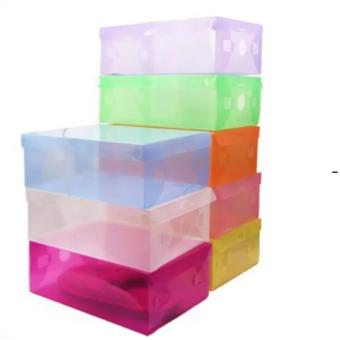 Harga Kotak Sepatu Transparan Warna Warni [ Shoe Box Transparant ]