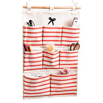 Harga 8 kantong linen/kain katun dinding pintu kabinet gantung tas penyimpanan kasus rumah penyelenggara