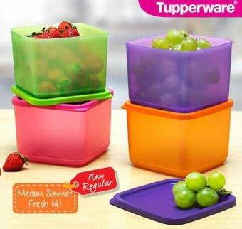 Tupperware - Medium Summer Fresh - Pink,Orange,Hijau,Ungu -. Source