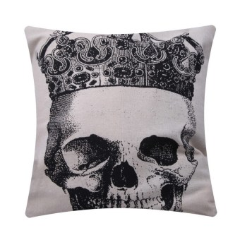 HKS Simple Fashion Linen Throw Pillow Cases Home Decor Cushion Cover Square D