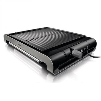 Philips HD4417 Ribbed Plate Compact Electric Grill 220V - Intl