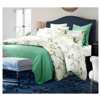 Bohemia Green and White duvet cover set winter comforter cover bedsheet Pillowcase 4pc bedding sets full queen king size 100% Cotton Bedlinen