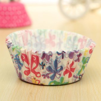 Flowers & Plaid Stripes Paper Cake Cupcake Liner Case Wrapper Muffin Baking Cup #07