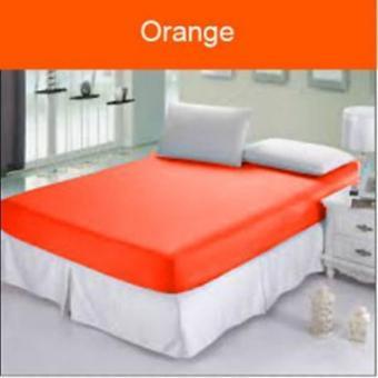 sprei jaxine waterproof anti air+set bg-orange