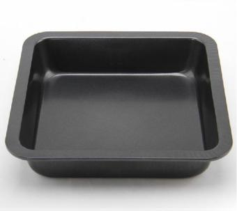 telimei Diy Non,stick Carbon Steel Square Deepen Cake Pan Pizza Plate Baking Pan