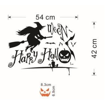 XKP Zy Hallowmas 05 Halloween Pumpkin Skull Wholesale Childrens Roombedroom Wall Stickers Waterproof Removable - intl
