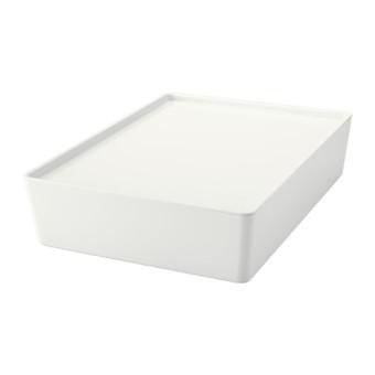 Harga Ikea kuggis Kotak Penyimpanan Dengan Tutup - Putih