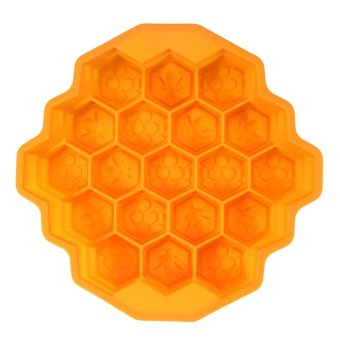 xfsmy Honeycomb Cake Molds Jelly Mould Silicone Baking Cake Mold Bakeware,19-Holes,Random Color - intl