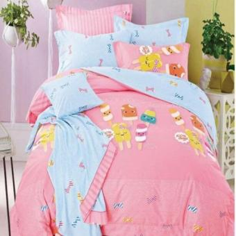 Depo Sprei Litte Candy Sateen Jepang Extra King Size